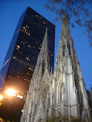Eerie View Of St. Patrick's Cathedral, New York