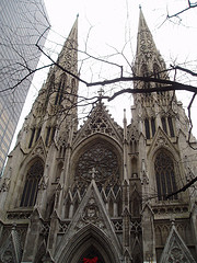 An Outside View Of St. Patrick's Cathedral.