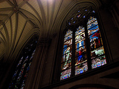 Stained Glass Windows Line The St. Patrick's Cathedral