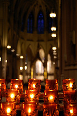 The Warm Glow Of Candles In St. Patrick's Cathedral, new York.
