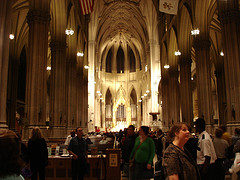 The Neo-gothic-style Of St. Patrick's Cathedral In New York