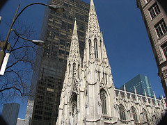 A Profile Shot Of St. Patrick's Cathedral, Despite Its Size, It Is Build On Only Two Acres Of Land