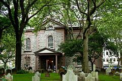 The Rustic St. Paul's Chapel, An Episcopal Chapel In New York.