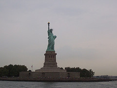 A View Of The Statue Of Liberty From The Water.