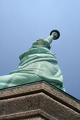 The Statue Of Liberty A Total Of Three Hundred And Five Feet Tall