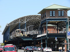 The Railway Station On Stillwell Avenue, A Street Beginning From A Dead End In Coney Island