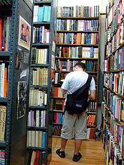 Looking For The Right Book In The Strand Bookstore