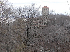 Exterior Photo Of The Cloisters Taken During The Winter Season.