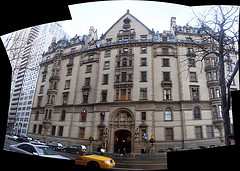Former Home Of John Lennon, The Dakota Stands At The Corner Of 72nd Street And Central Park West.