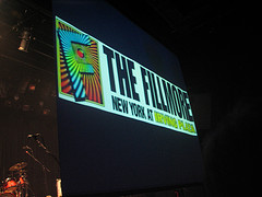 A Bright, Neon Sign Promoting The Fillmore New York At Irving Plaza.