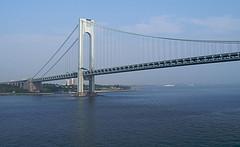 Verrazano-narrows Bridge Spans The Narrows Of Waterway Between Staten Island And Brooklyn