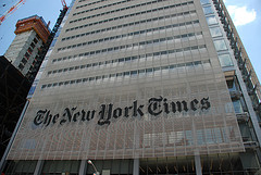 The New York Times Building Seen On A Sunny Day