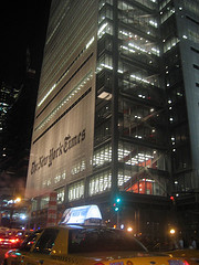 A Vivid Nighttime Shot Of The New York Times Building