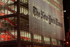 A Late Night View Of The New York Times.