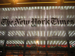 The Building Housing The New York Times, The Largest Metropolitan Newspaper In The United States Of America.