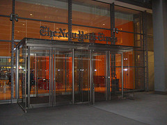 Entrance To The New  York Times Building Designed By Renzo Piano