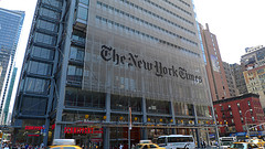 The New York Times Building On Eighth Avenue, Near The Port Authority