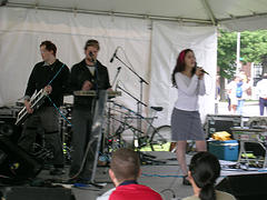A Free Performance By A Band At The River To River Festival