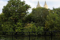 The Two Towers Of The San Remo Hidden Behind The Foliage Of Central Park