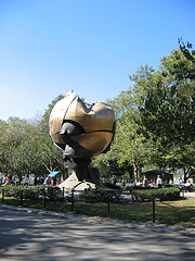 The Current State Of The Sphere. Left As Is After The 9/11 Attacks