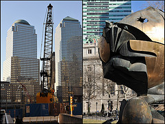 The World Financial Center (left) And The Sphere (right)