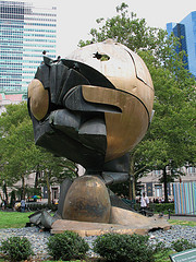 Located In Battery Park The Sphere Can Be Viewed By All.
