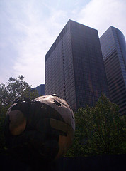 The Sphere, Is Currently Located In Battery Park Was Damaged In World Trade Center Attacks.