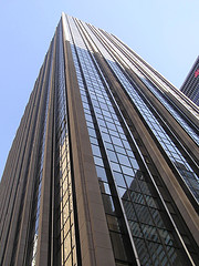 A View Looking Up On The Time-life Building.