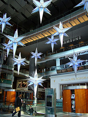 Hanging Stars In The Modern Time Warner Center Constructed In 2000