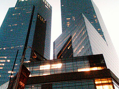 A Gritty Picture Of The Time Warner Center During Sunrise