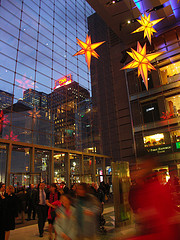 The Crowds Hustle Through The Busy Time Warner Center