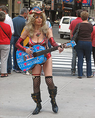 The Naked Cowgirl In Times Square