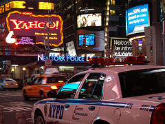 The Police Are Omnipresent In The Excitement And Vibrant Colors Of Times Square