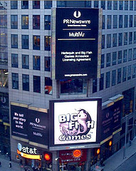 Times Square In New York Bustles With Computerized Advertising Billboards