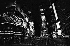 Times Square In Black & White Takes On A Modern Film Noir Look