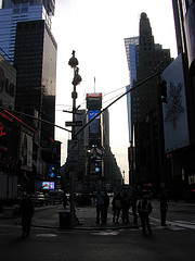 A Sleepy Times Square Gets Ready To Welcome The Day