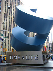 The Blue And Steel Icon For The Time & Life Building