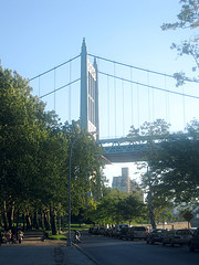 Looking Up At The Triborough Bridge On A Sunny Day.