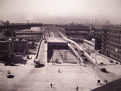 The Triborough Bridge Gets Closer To Completion In This Dated Photo.