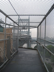 Entering The Catwalk Of The Triborough Bridge.