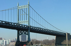 A View From The Bottom Of Robert F. Kennedy Bridge, Formerly Named Triborough Bridge.