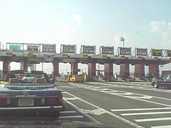 A Crowded Cash Lane At The Tollway On The Triborough Bridge.
