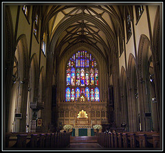 The Beautiful Interior Of The Trinity Church, A National Historic Landmark.