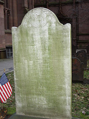 Plaque Honoring William Bradford, Located On The Grounds Of Trinity Church