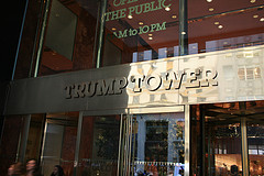 Entrance To Trump Tower Located At 725 Fifth Avenue