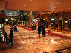 The Exquisite Interior Of The Lobby Of Trump Tower
