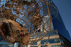 Globe Sculpture Outside Of Trump Tower