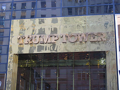 A Picture Of The Trump Tower In Nyc Plated With A Gold Like Arch Which Was Built In 1983