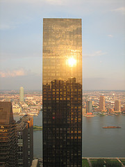 The Trump World Tower Looking Ever So Elegant With The Sun As Its Spotlight.