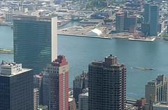Skyline Near U Thant Island, An Artificial Island In The Eat River Of New York City.